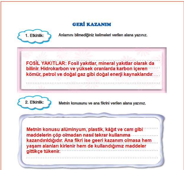 5.Sınıf FCM Yayınları Türkçe Çalışma Kitabı 147.Sayfa Cevapları