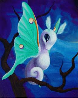 Sea Moth Acrylic Painting