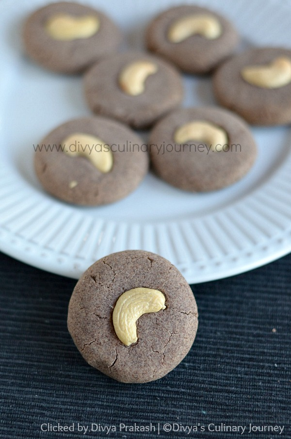 Eggless ragi cookies, ragi honey cookies, healthy cookie