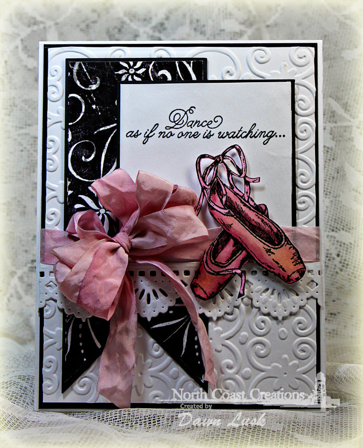 Stamps - North Coast Creations Ballet, ODBD Custom Beautiful Borders Dies, ODBD Chalkboard Paper Collection
