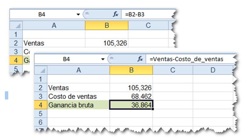 ejemplo de fórmula con nombres definidos