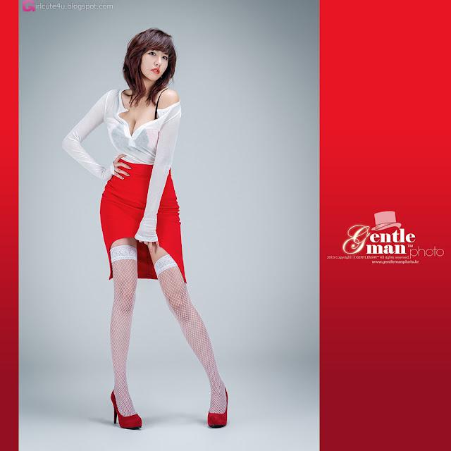 4 Sexy Red - Jung Yu Ri -Very cute asian girl - girlcute4u.blogspot.com