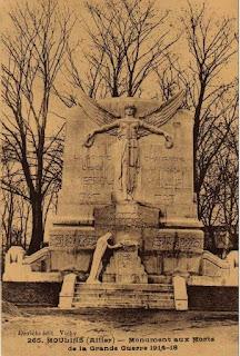 CPA monuments aux Morts de l'Allier, Moulins