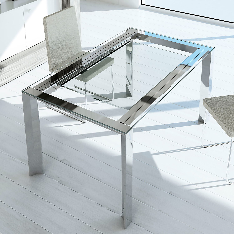Mesas de comedor mesas de comedor extensibles de cristal for Mesas comedor extensibles modernas