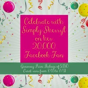 Enter the Facebook Fan Party for Simply Sherryl Giveaway. Ends 7/31.