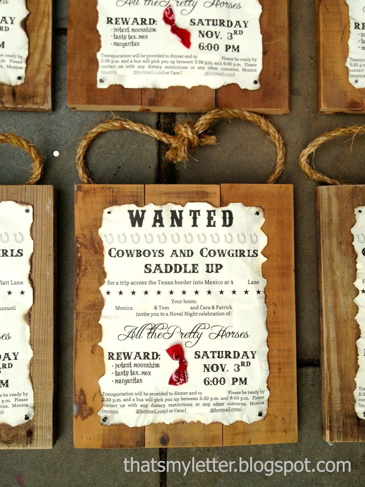 Cowboy party invitation ideas -  W Is For Wanted Party Invitations