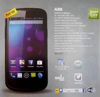 HP Android Baru Cross A88, Quad-Core 1jutaan