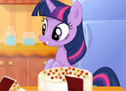 Twilight Sparkle Cooking Red Velvet Cake juego