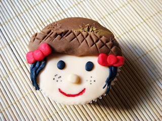 Cupcake Festa Junina  rosto caipira