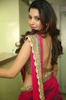 Deeksha Panth Hot Photo in Pink Half-Saree