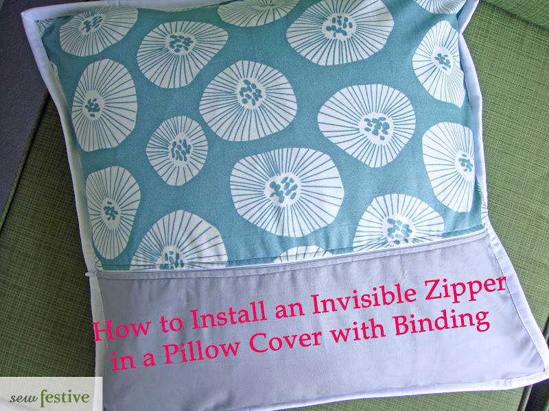 how to put in an invisible zipper in a pillow