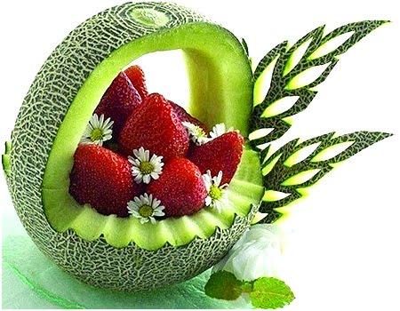 Карвинг – Кошница за плодове от пъпеш