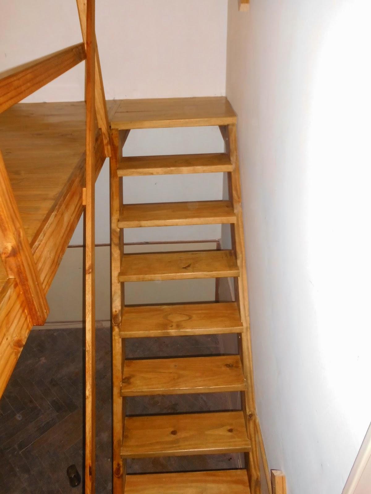 Entrepisos de madera escaleras escaleras for Escaleras 7 escalones