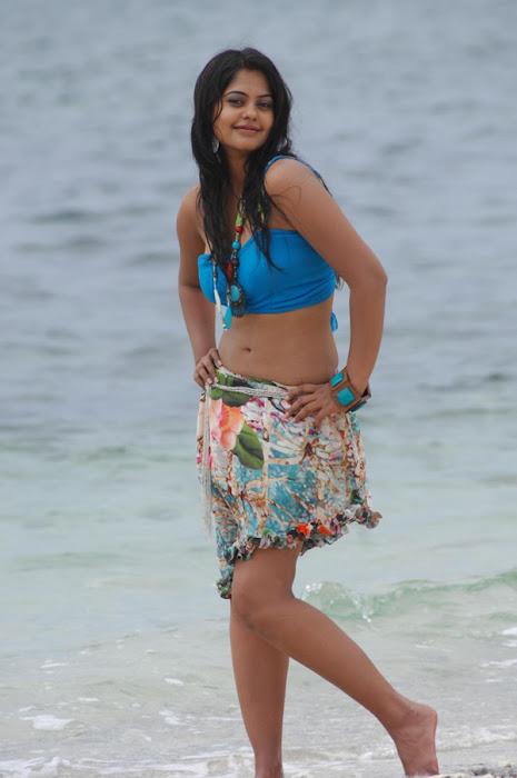 bindu madhavi in spicy beach song actress pics