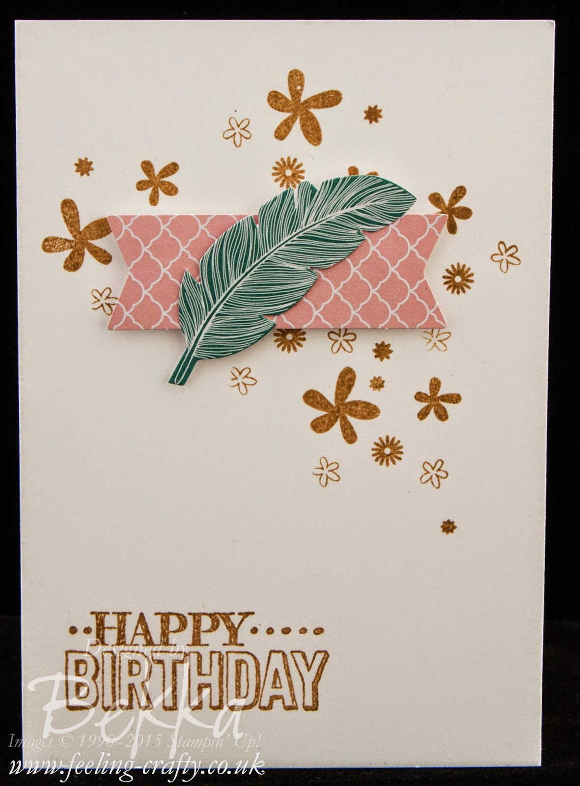 Fast and Fabulous Birthday Card made with left overs from the Stampin' Up! Perpetual Birthday Calendar Kit and matching Stamps