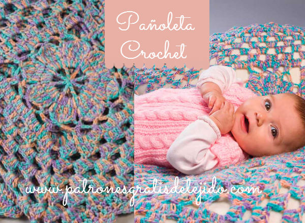 Tutorial pañoleta de bebé tejida al crochet paso a paso