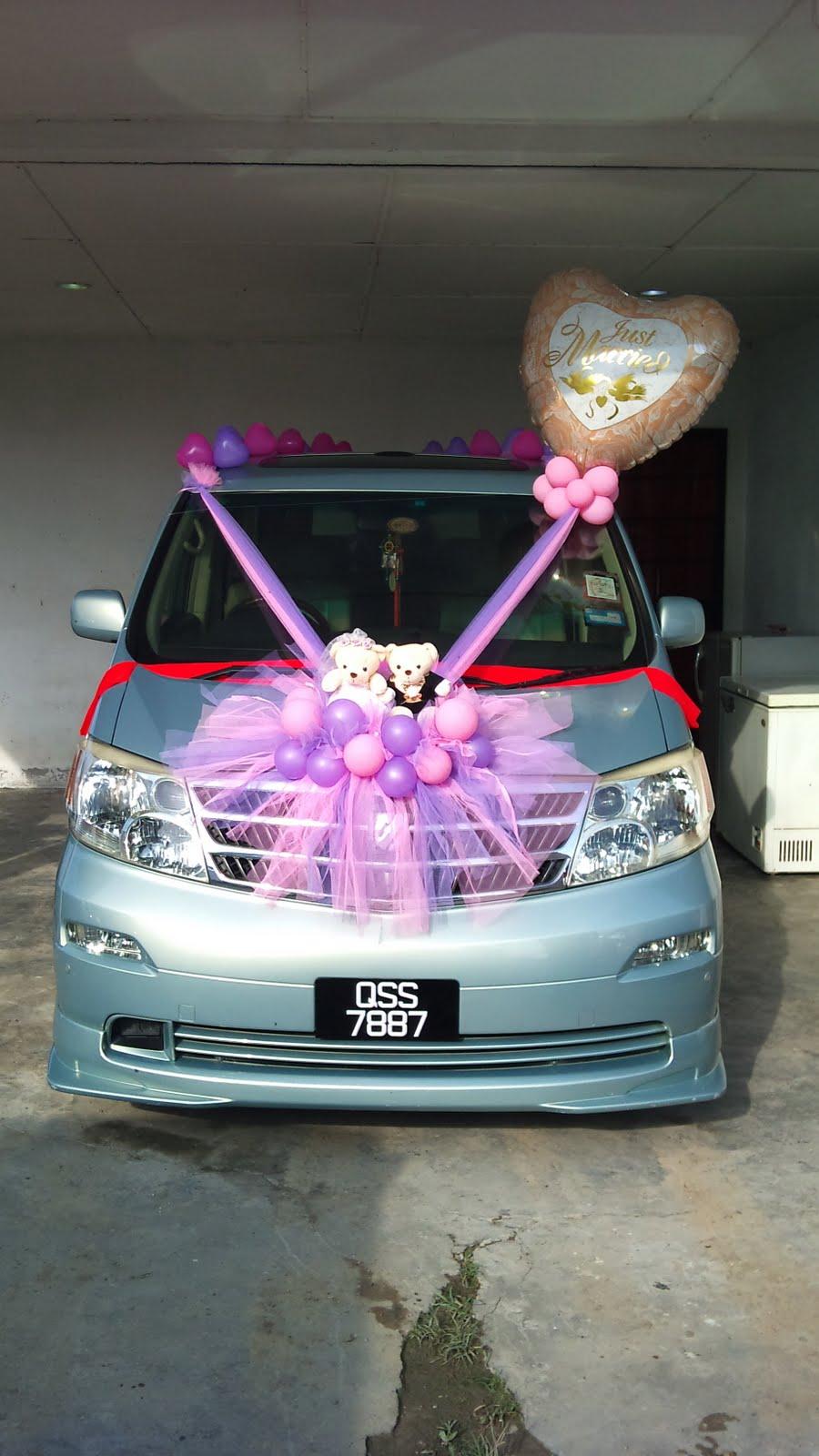 Wedding Car Decoration For Peter Su Big Day