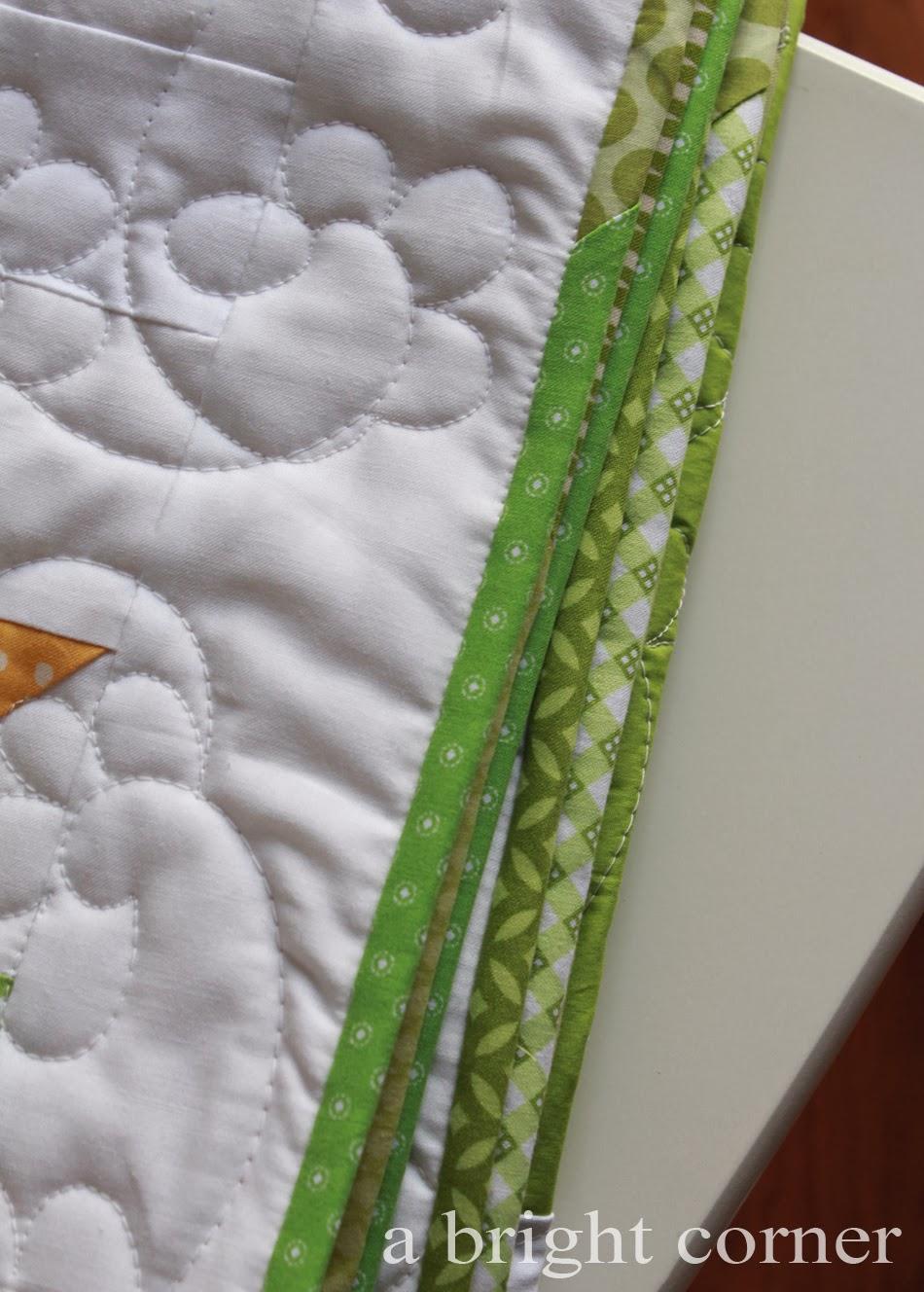 scrappy quilt binding