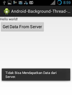 Aplikasi Android Menggunakan Thread Background Process untuk Mengambil Data dari Web Server HTTP dengan Progress Dialog