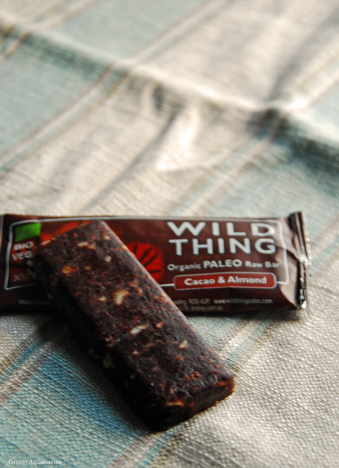 Trying the paleo organic and vegan Wild Thing bars. Via @eleanormayc