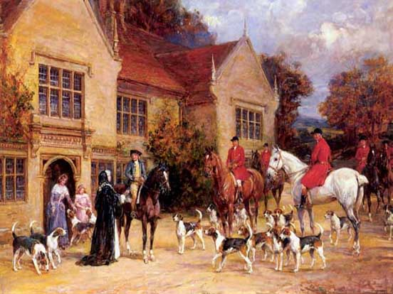 Men with horses, Women at home, dogs Natural Painting