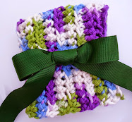 mindless ridged crochet dishcloth