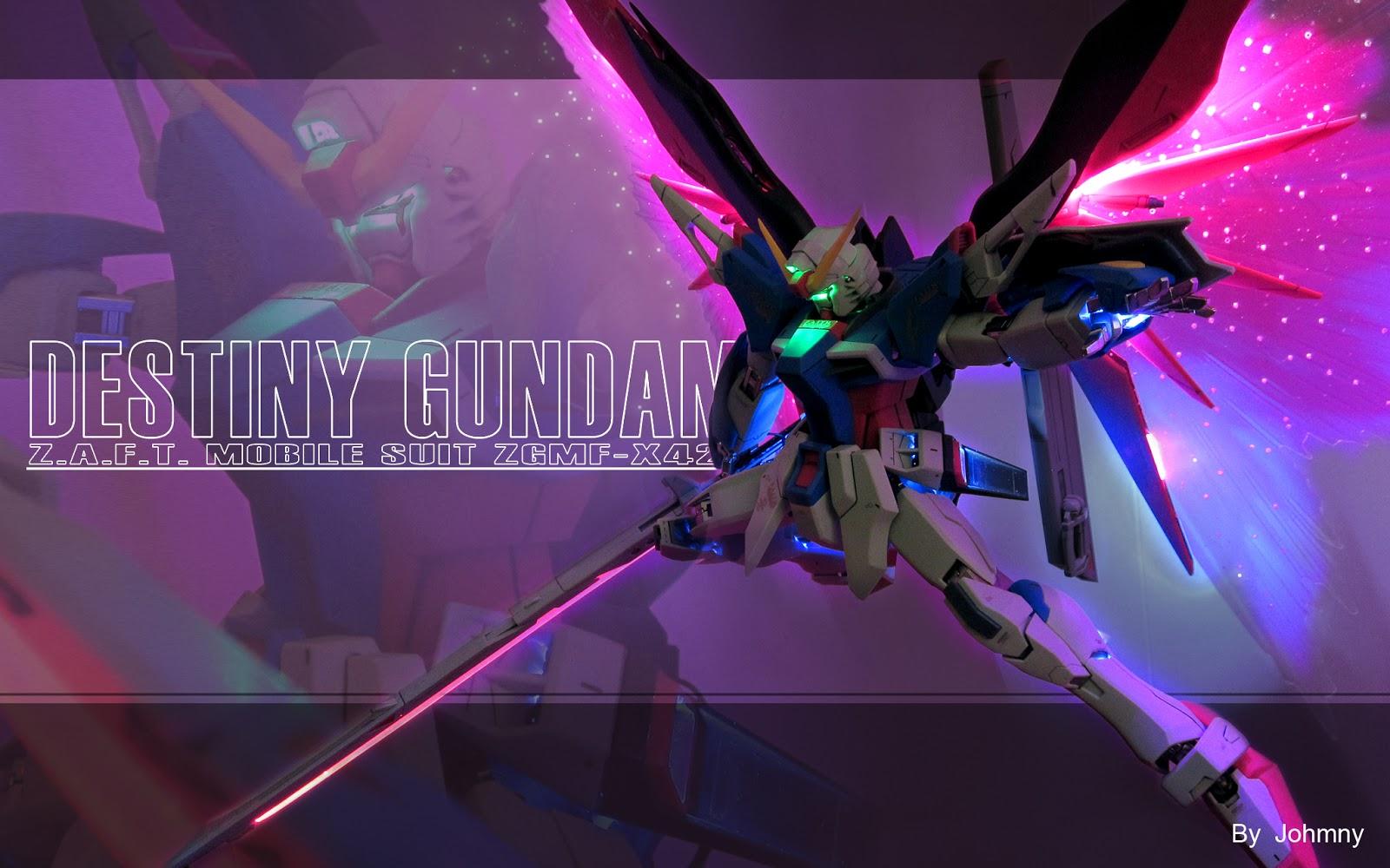 gundam guy mg 1 100 destiny gundam custom build w led. Black Bedroom Furniture Sets. Home Design Ideas