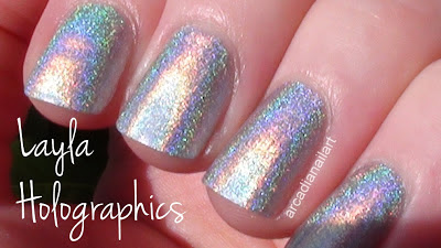Layla Holographic Silver Polish Swatch