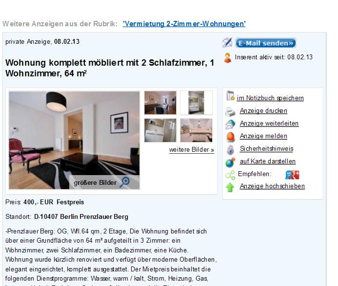 Informationen ber wohnungsbetrug informations about for Zwei zimmer wohnung berlin