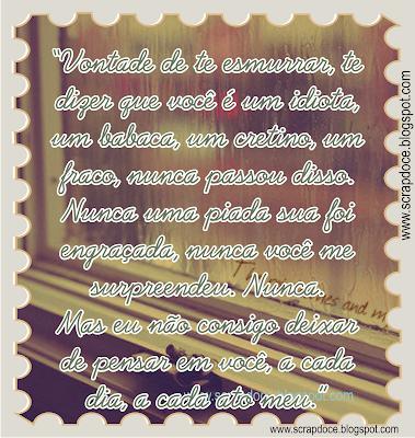 Recadinho de Amor com frase de Tati Bernardi para compartilhar no Facebook