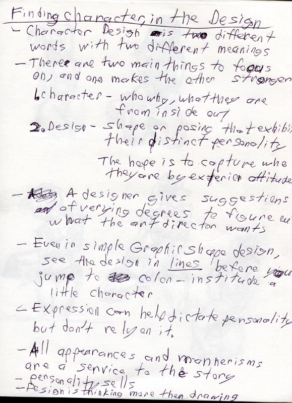 Character Design Notes Spot : Hoof prints character design notes