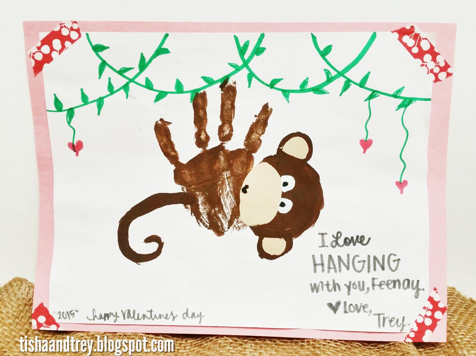 tishaandtrey: Valentine\'s Day Handprint Art