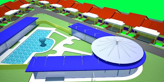 Site Plan 3D Town House