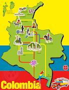 Mapa de Colombia y sus principales regiones. (mapa colombia)