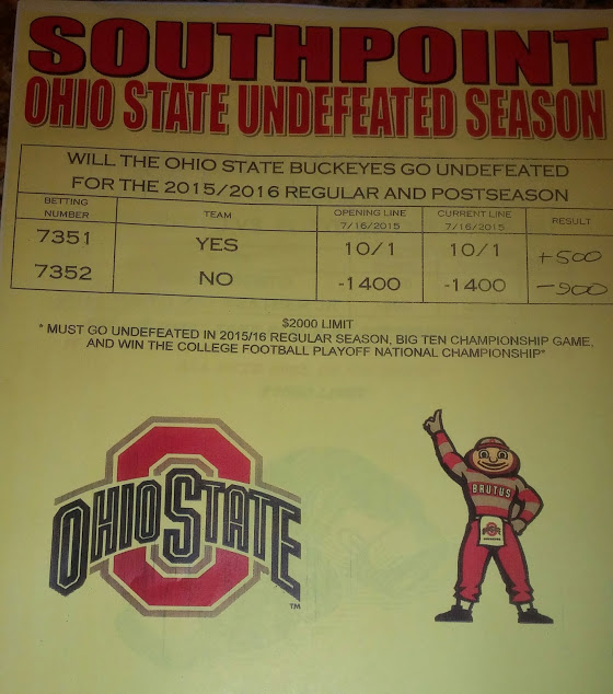 Ohio State prop at South Point