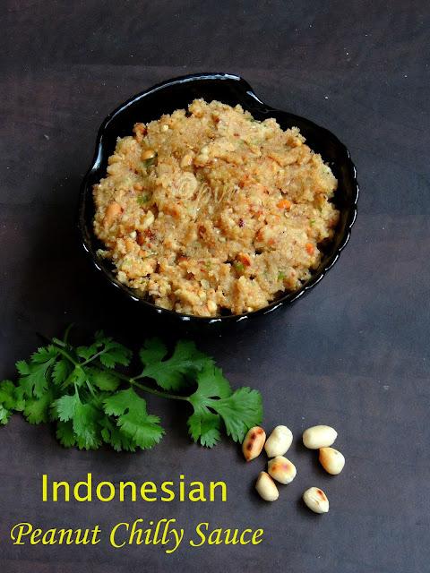 Indonesian Peanut Chilly Sauce, Sambal Kacang