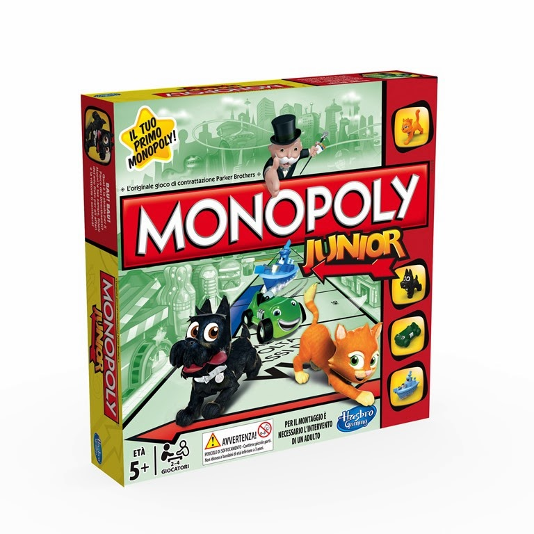 nuovo Monopoly Junior Hasbro Gioco in scatola per bambini dai 5 anni in su 2 4 giocatori
