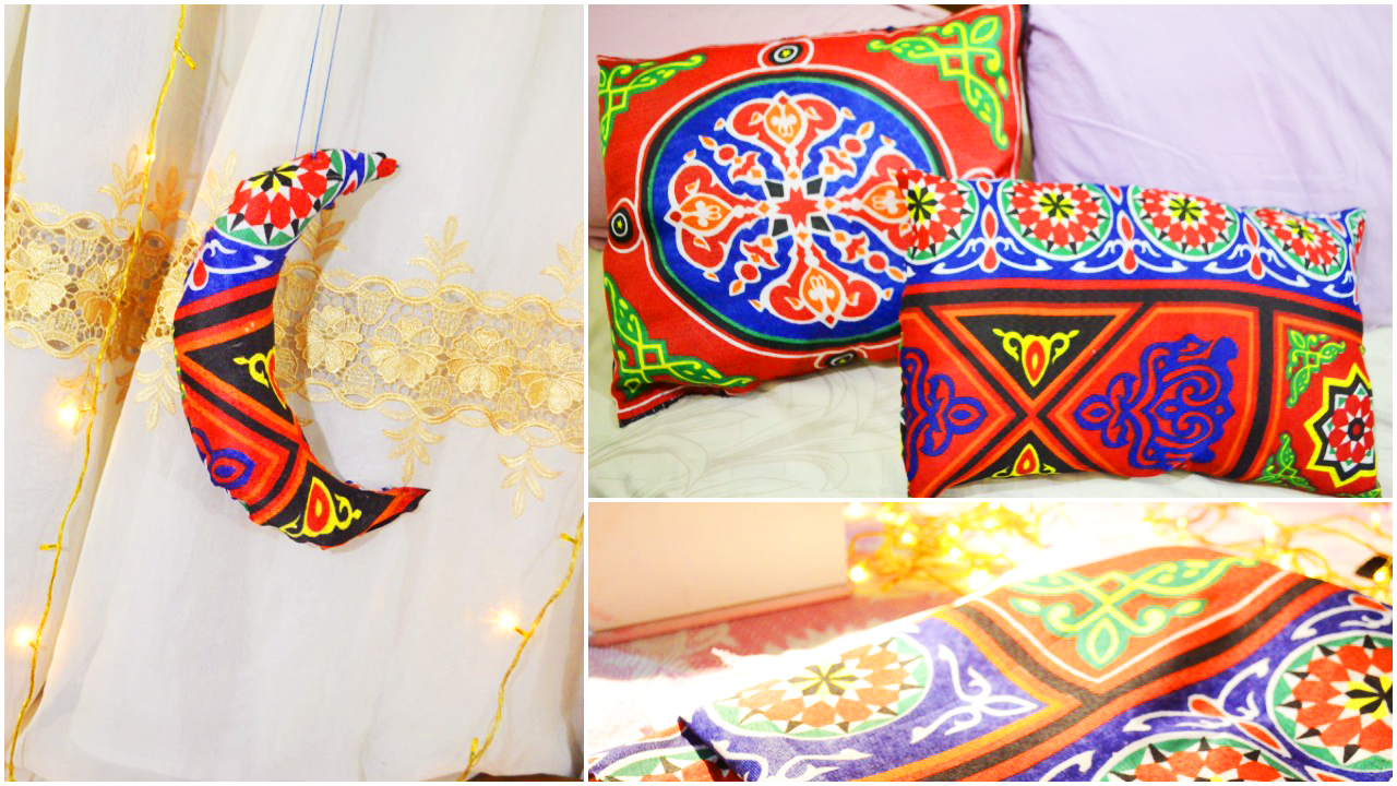Diy no sew ramdan arabic inspired pillows decoration Islamic decorations for home