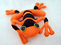 Orange Plush Poison Dart Frog