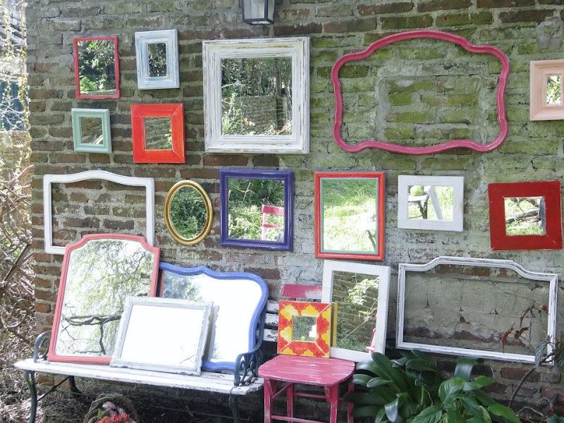 Vintouch muebles reciclados pintados a mano espejos Muebles antiguos pintados a mano