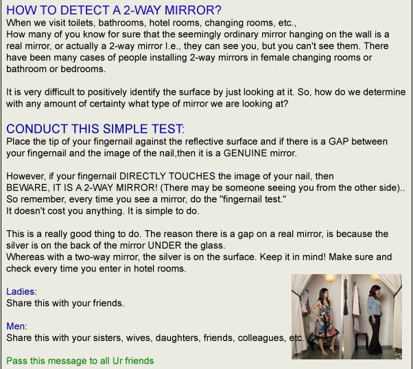 Knowcrazy Com How To Detect Hidden Camera In Trial Room The Myth Bust