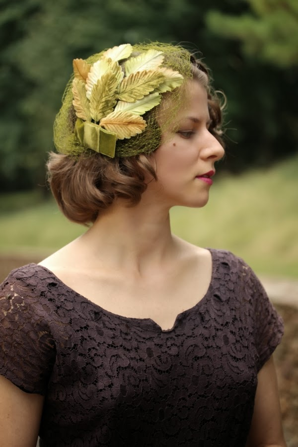1950s Autumn Leaf Fascinator #vintage #hair #accessory #1950s #veil