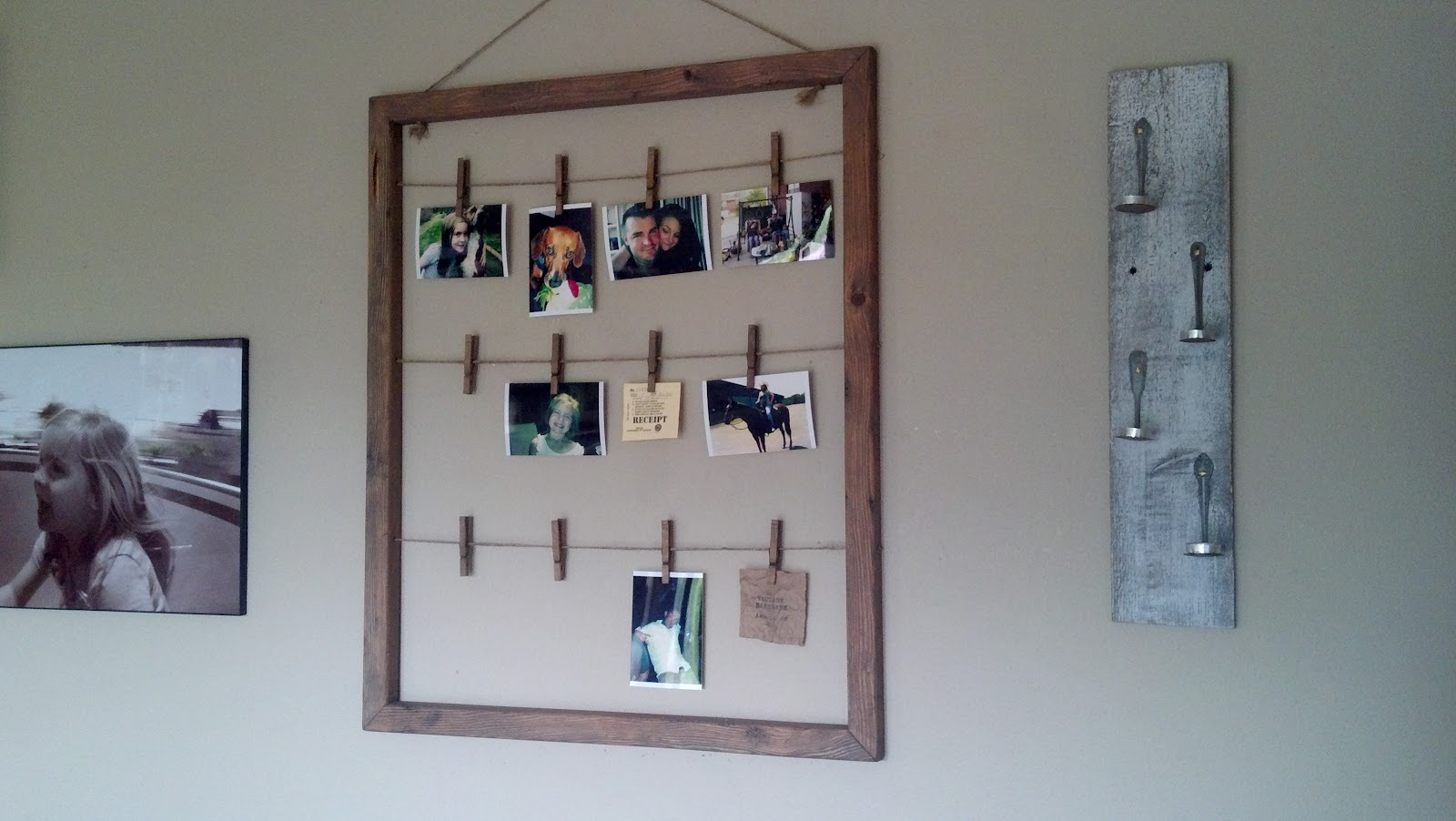Clothes Pin Photo Hanger
