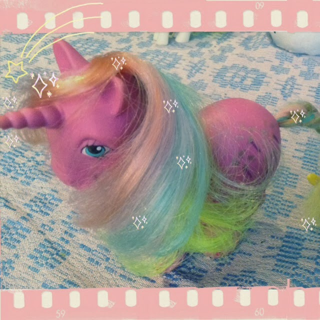 vintage my little pony, unicorn