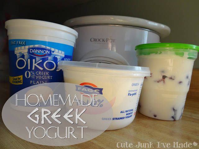 Homemade Crockpot Greek Yogurt | Cute Junk I've Made