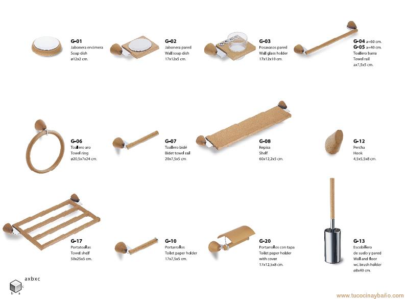 Accesorios de ba o en madera tu cocina y ba o - Accesorios de bano en madera ...