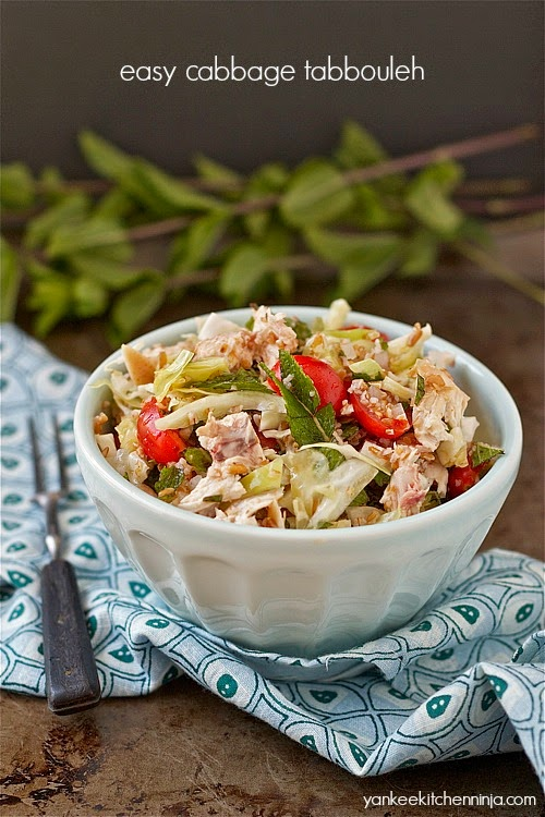 easy recipe for healthy cabbage tabbouleh