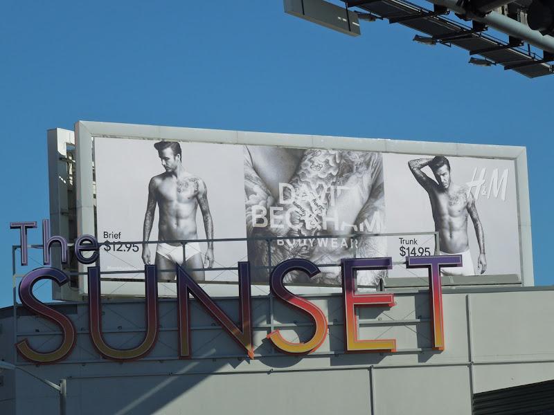Beckham HM bodywear billboard