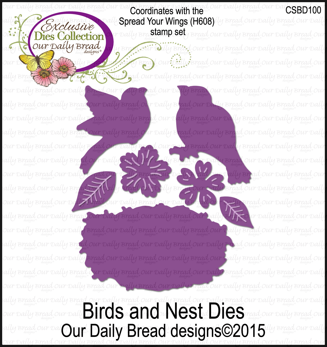 Our Daily Bread Designs Custom Birds and Nest Dies