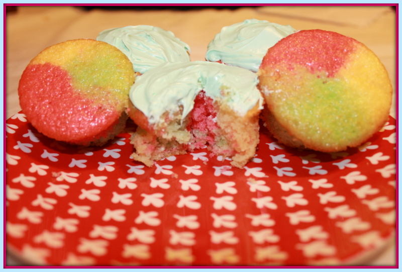Word Spelunking: Cupcake Time: Tie-Dye Fruity Jell-O Cupcakes